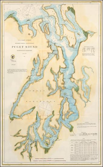 92-Pacific Northwest and Washington Map By United States Coast Survey
