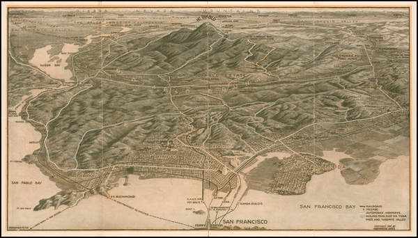 79-California, San Francisco and Other California Cities Map By Worthington Gates