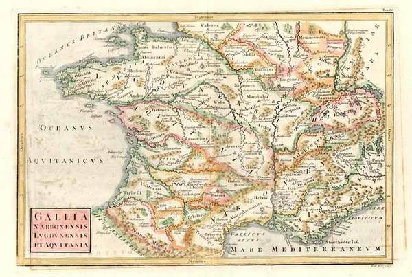 60-Europe, France and Italy Map By Christoph Cellarius