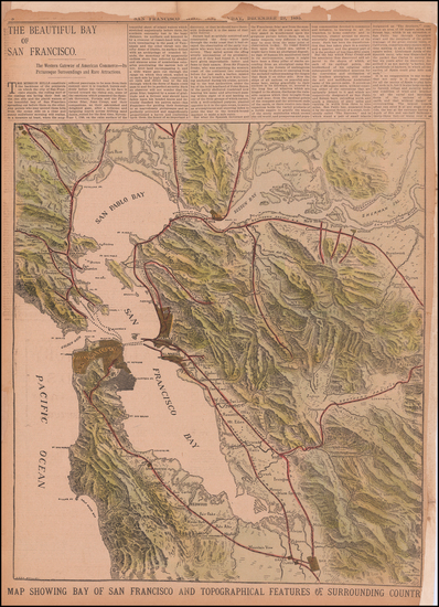 8-California and San Francisco & Bay Area Map By Leon Boillot