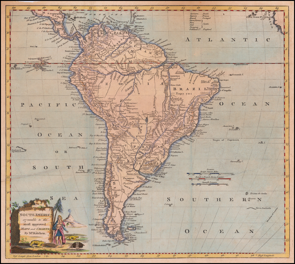 41-South America Map By George Augustus Baldwyn