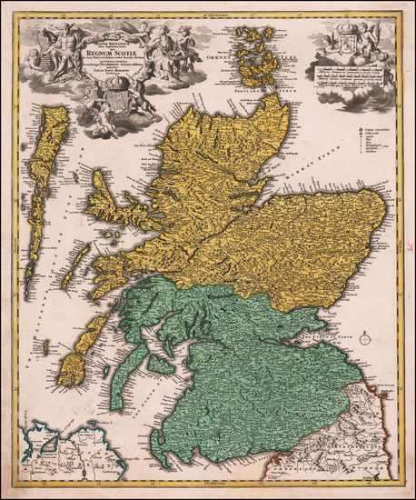 Scotland Map By Johann Baptist Homann