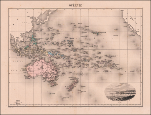 28-Pacific and Oceania Map By J. Migeon