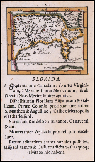 54-Florida, South, Southeast and Texas Map By Johann Ulrich Muller