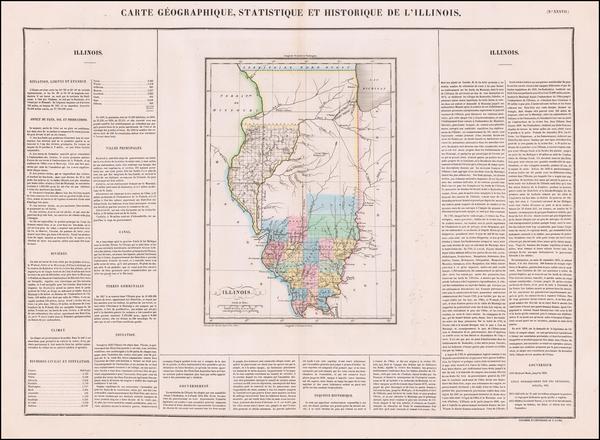 55-Illinois Map By Jean Alexandre Buchon