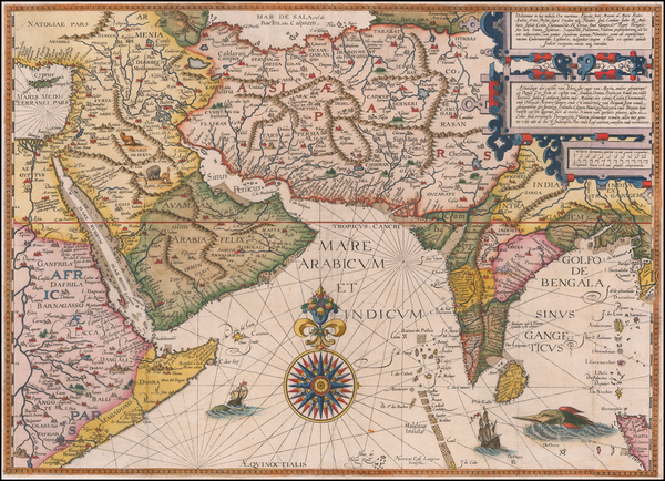 57-Indian Ocean, India, Central Asia & Caucasus, Middle East and East Africa Map By Jan Huygen