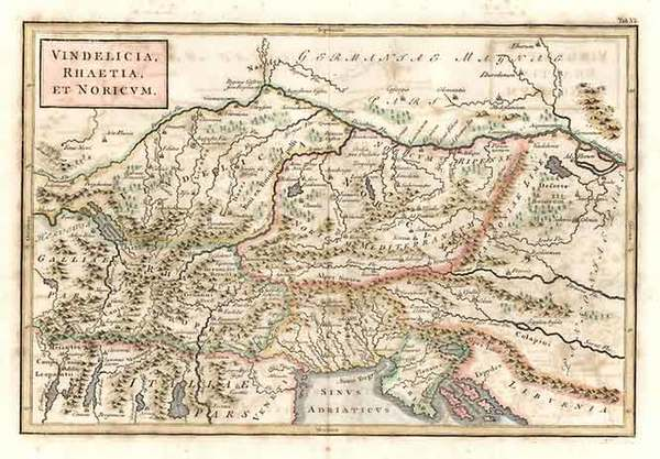 63-Europe, Switzerland, Hungary, Balkans and Italy Map By Christoph Cellarius