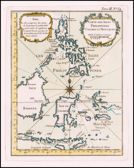 39-Philippines Map By Jacques Nicolas Bellin