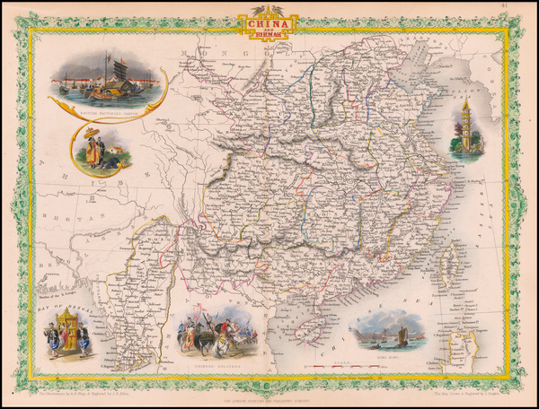 81-China and Southeast Asia Map By John Tallis