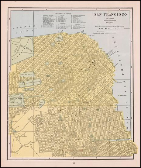 70-San Francisco Map By George F. Cram