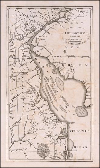29-Delaware Map By Mathew Carey