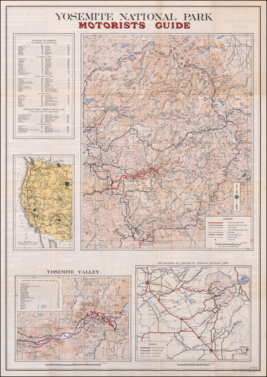 93-Yosemite Map By U.S. Geological Survey