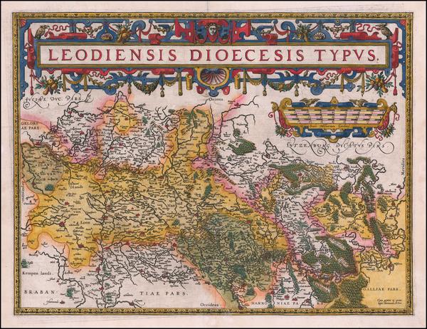 9-Belgium Map By Abraham Ortelius