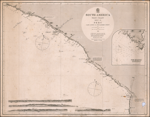 1-Peru & Ecuador Map By British Admiralty