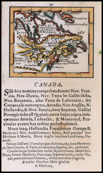25-New England, Midwest and Canada Map By Johann Ulrich Muller