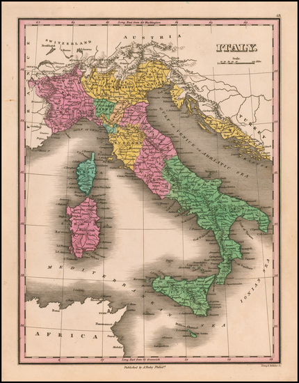 96-Italy Map By Anthony Finley