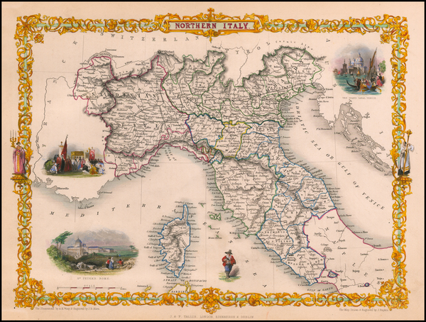 54-Northern Italy Map By John Tallis
