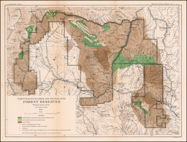85-Colorado and Colorado Map By U.S. Geological Survey