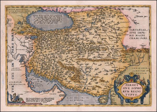 54-Persia Map By Abraham Ortelius