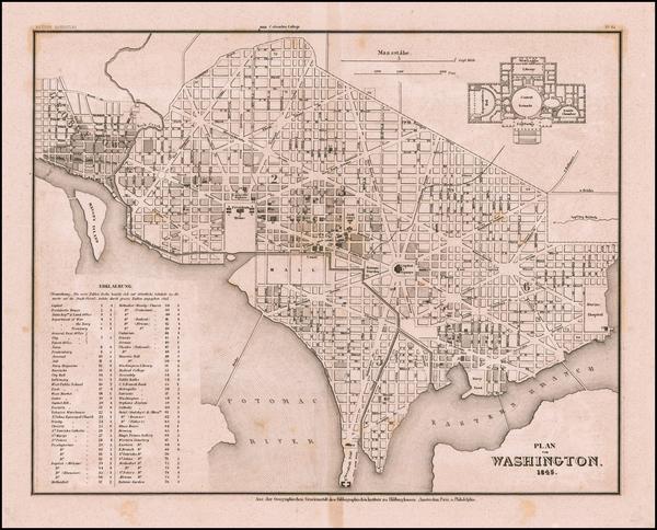 57-Washington, D.C. Map By Joseph Meyer