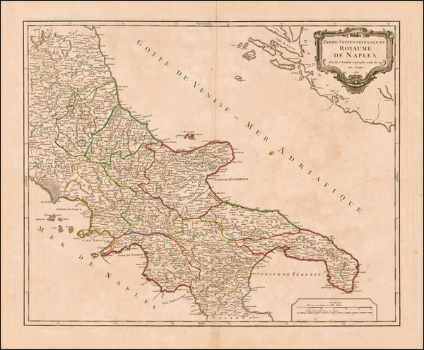 58-Southern Italy Map By Didier Robert de Vaugondy