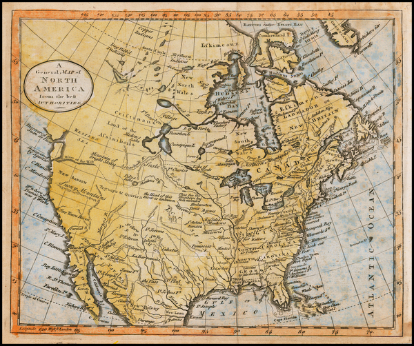 74-North America Map By William Guthrie