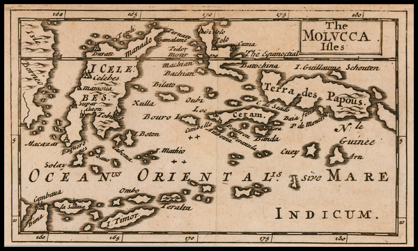 Indonesia and Other Islands Map By Sir Jonas Moore