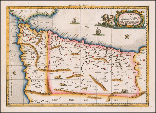 100-North Africa Map By  Gerard Mercator