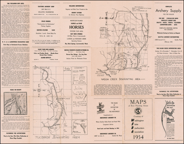 Washington Map By Washington State Bowhunters Association