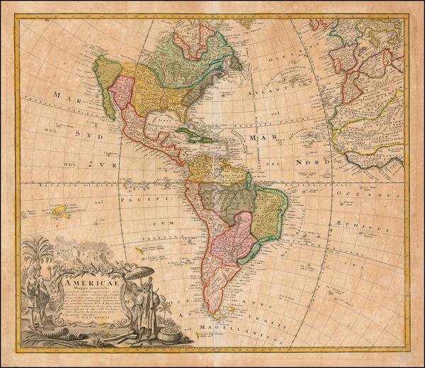 13-America Map By Homann Heirs / Johann Matthaus Haas