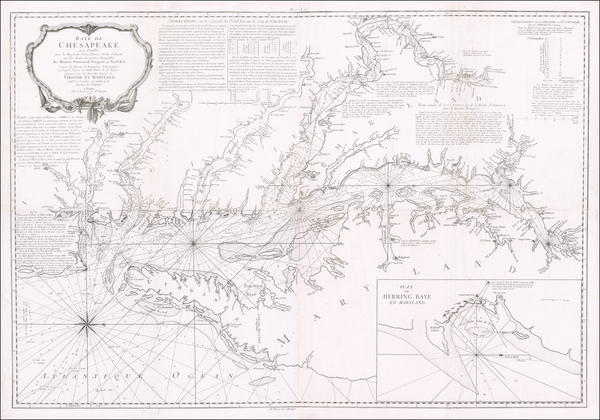 35-Mid-Atlantic, Maryland, Delaware, Southeast and Virginia Map By George Louis Le Rouge / Anthony