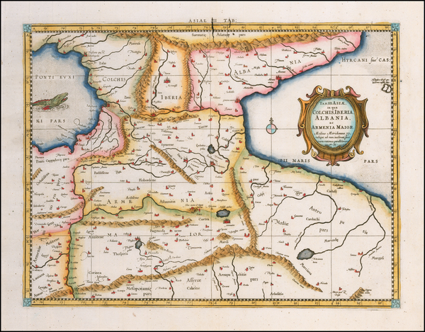 67-Russia, Middle East and Turkey & Asia Minor Map By  Gerard Mercator