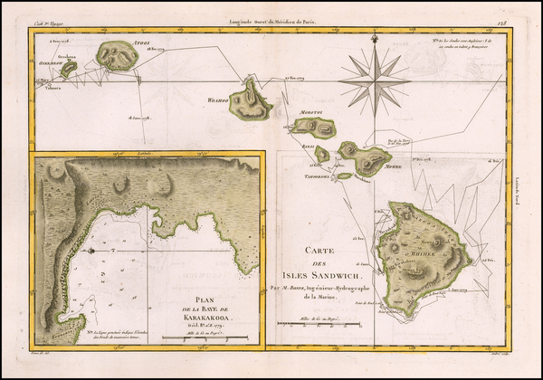 26-Hawaii and Hawaii Map By Rigobert Bonne