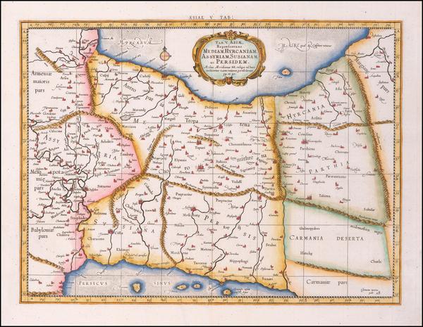 67-Persia Map By  Gerard Mercator