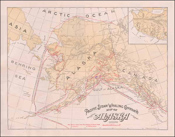 10-Alaska Map By Pacific Steam Whaling Company