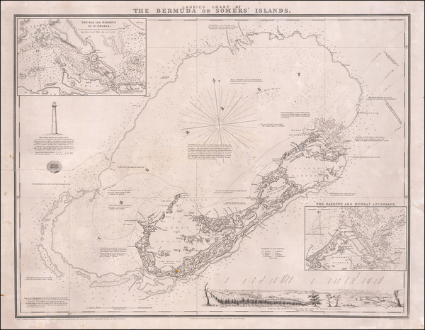 73-Bermuda Map By Richard Holmes Laurie