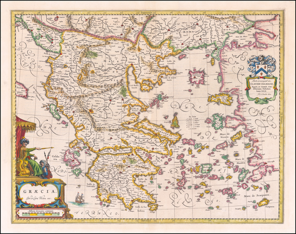 62-Balkans and Greece Map By Johannes et Cornelis Blaeu