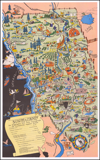 62-Pictorial Maps and California Map By Lea McCarty