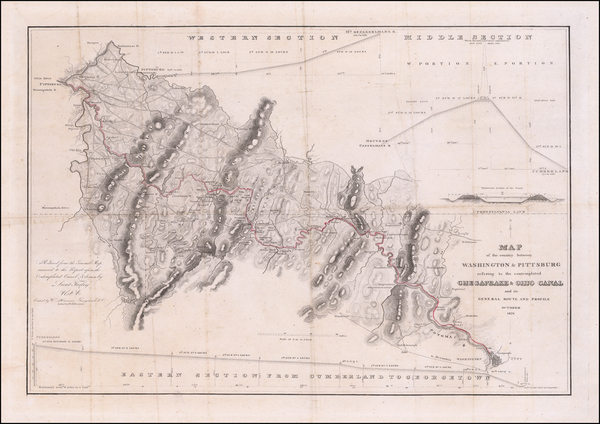 92-Mid-Atlantic, Pennsylvania and Maryland Map By United States War Dept.