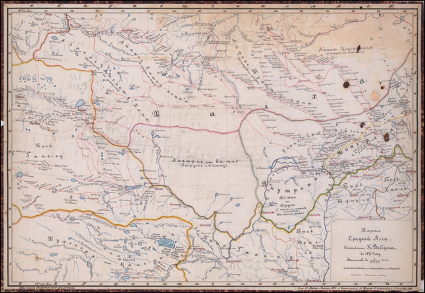 77-Russia, China, Central Asia & Caucasus and Russia in Asia Map By K. Weber  &  L. Brosse