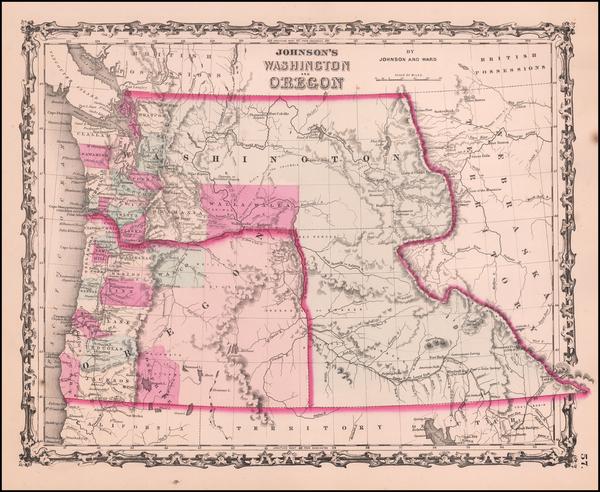 33-Rocky Mountains Map By Benjamin P Ward  &  Alvin Jewett Johnson