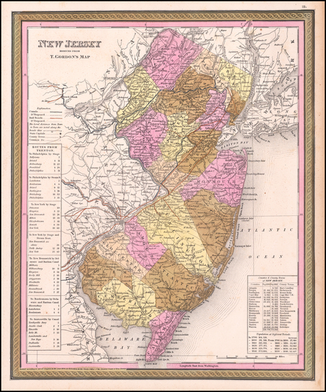 42-New Jersey Map By Henry Schenk Tanner