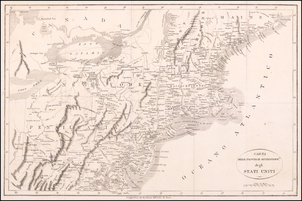 96-New England, New York State and Mid-Atlantic Map By Francois A.F. La Rochefoucault-Liancourt