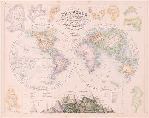 77-World Map By Archibald Fullarton & Co.