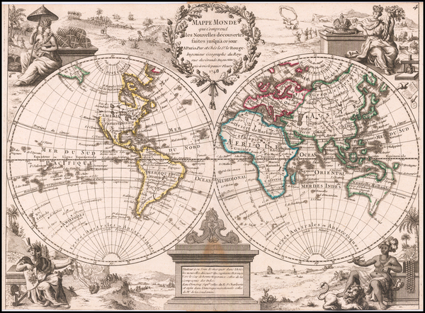 World Map By George Louis Le Rouge