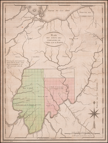 72-Kentucky, Midwest and Ohio Map By Pierre Antoine Tardieu