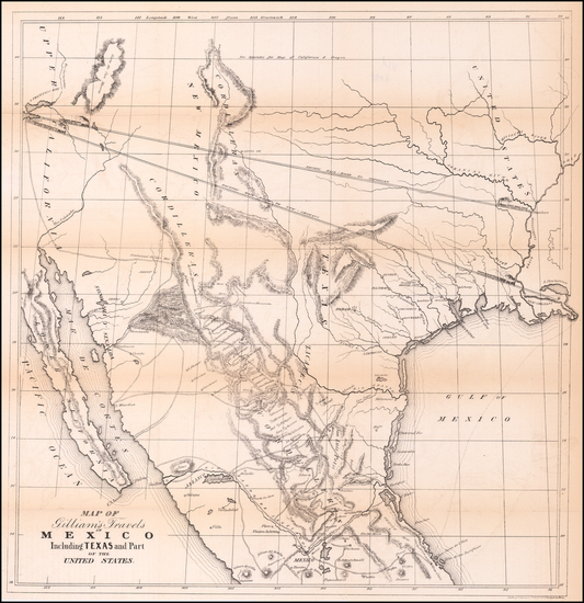 45-Texas, Plains, Southwest, Rocky Mountains, Mexico and California Map By Albert Gilliam