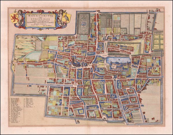43-Netherlands Map By Johannes Blaeu