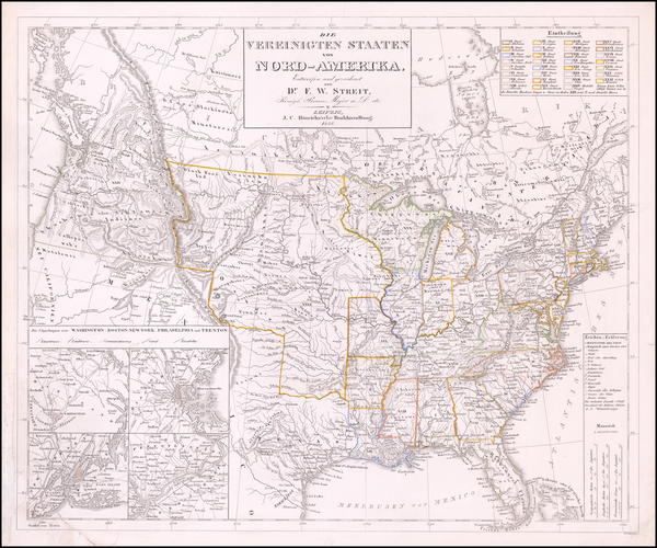 36-United States and Texas Map By Dr. F.W. Streit