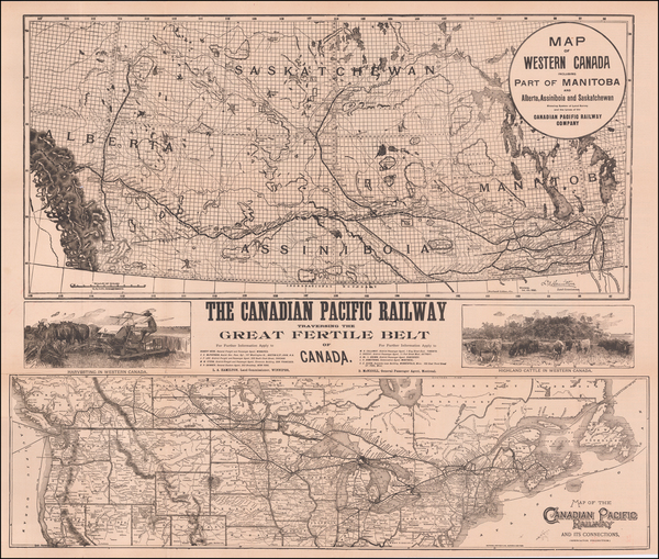 60-United States and Canada Map By Matthews-Northrup & Co.